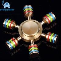 DODOELEPHANT JX 6 Fidget Spinner Hand Fidgets Spin Brass Metal For ADD ADHD Autism Kids Adult