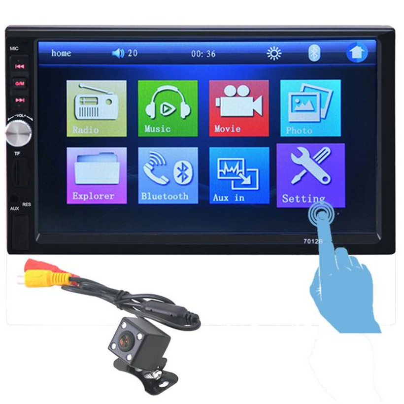 In Dash Car Touch USB/SD/MP3/MP5 Player AUX FM Radio Stereo Bluetooth Double DIN+Camera drop shipping 0929 in dash car touch usb sd mp3 mp5 player aux fm radio stereo bluetooth double din camera fashion item 17sept14