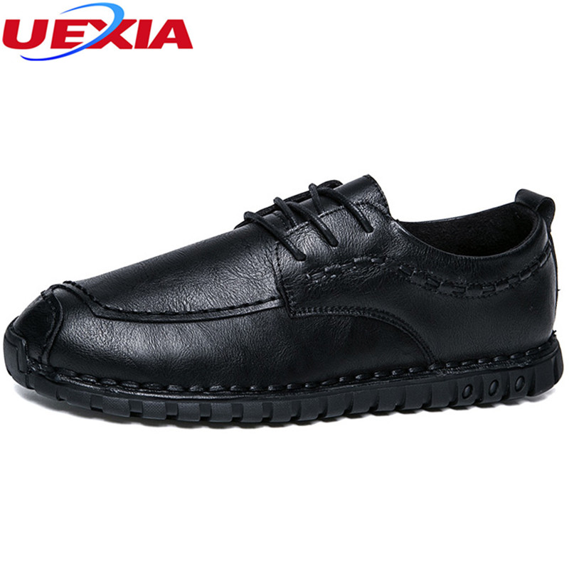 UEXIA Fashion Breathable Shoes Casual Slip On Bullock Loafers Men Low Heel Flat Summer Outdoor Driving Shoes Zapatillas Homme new 2017 men s genuine leather casual shoes korean fashion style breathable male shoes men spring autumn slip on low top loafers