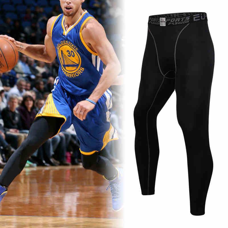 Men's Compression Tights 3/4 Shorts Sports Tight Black ...