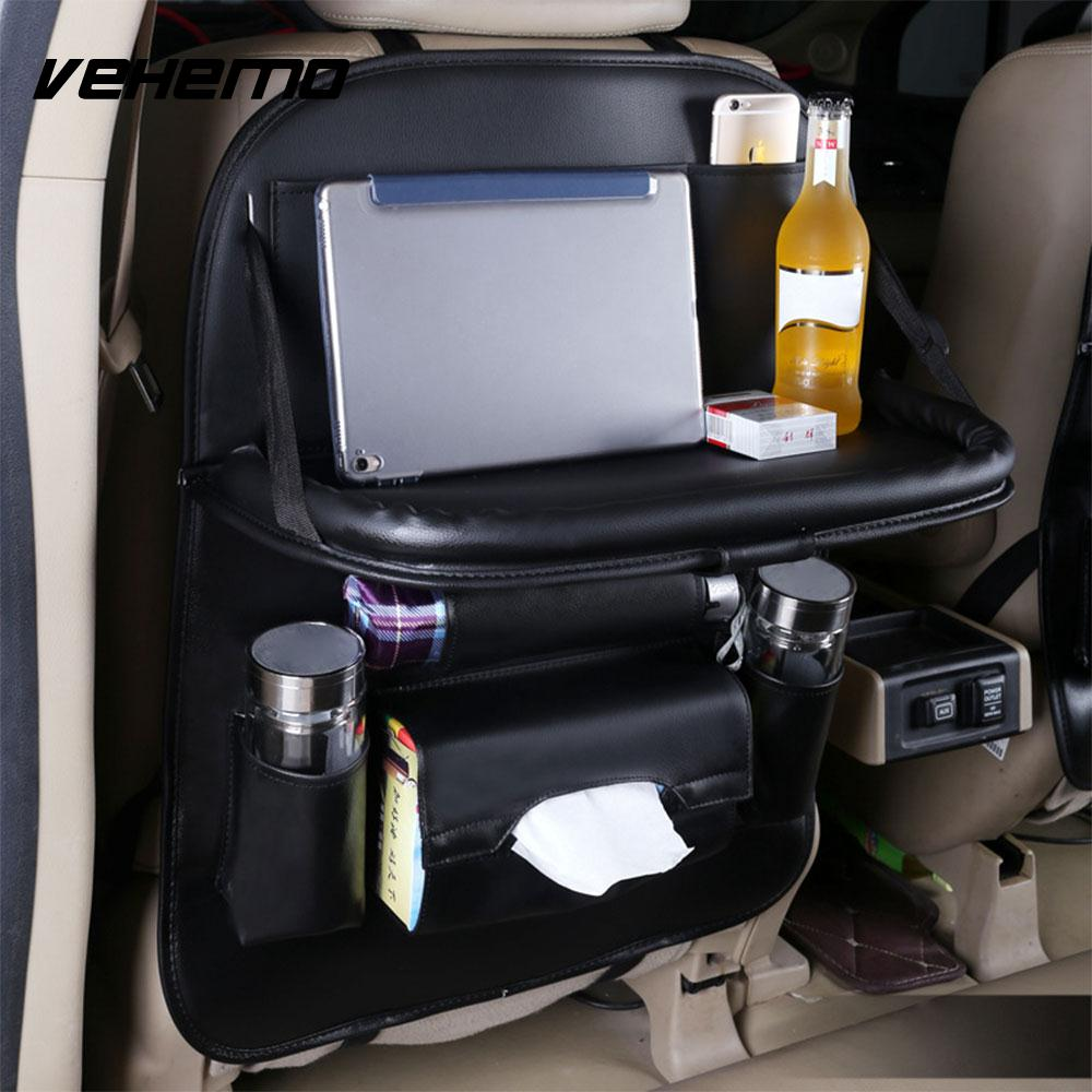 Vehemo Multicolor Hanging Bag Seat Back Bag Auto Seat Bag Auto Storage Bag Organizer Anti Stepped Dirty Protector Travel