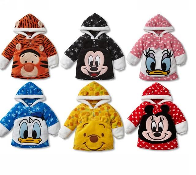 Novos Hot Crianças Hoodies Quentes Fit 1-4Yrs Meninas Meninos Crianças Grosso Camisola Outwear Casaco de Inverno Do Bebê da Roupa Do Bebê Frete Grátis