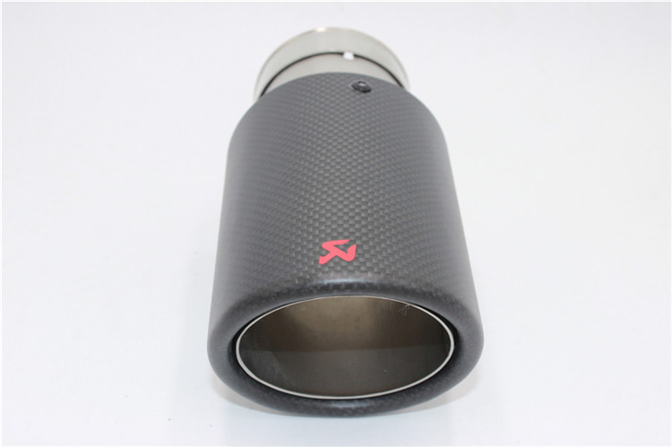 Coowei One piece Inlet 63mm Outlet 89mm Carbon exhaust tip Stainless Steel Muffler tips Automobile Akrapovic exhaust pipe