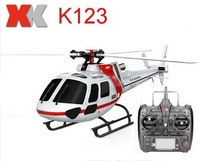 (With 2 Batteries) Original XK K123 6CH Brushless AS350 Scale 3D6G System RC Helicopter RTF Upgrade WLtoys V931