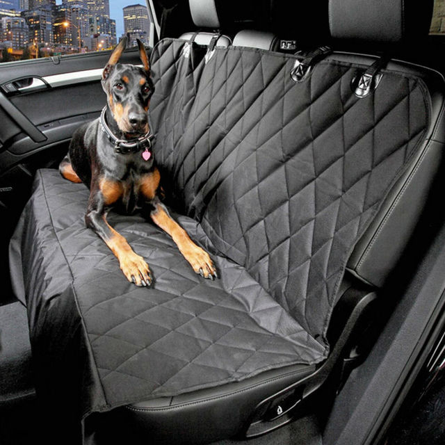 Waterproof Car Pet Seat Covers Back Bench 600D Oxford Interior Travel Accessories