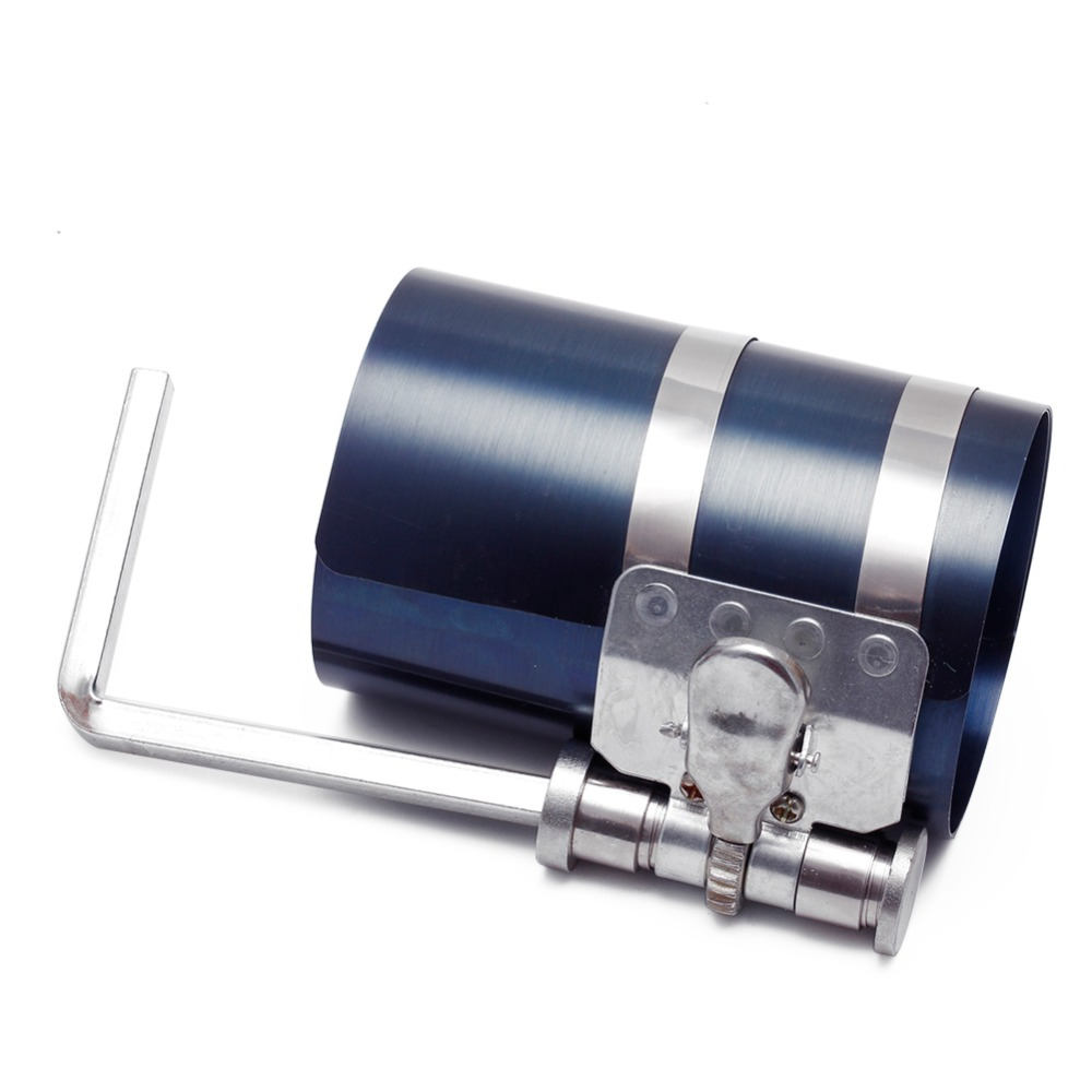 """4"""" Car Engine Piston Ring Compressor Tool Installer Band ... for Piston Ring Clamp  104xkb"""