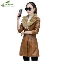 Winter New Increase Velvet Coat Female Medium Long Thicken Warm Jacket Women Slim Large Size Motorcycle