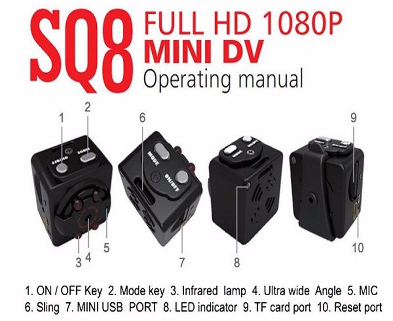 Sport Action Mini Camera HD 1080P 720P SQ8 Camera Recorder Kamera DV Video Recorder Infrared Night Vision Digital Usb Cameras  (9)