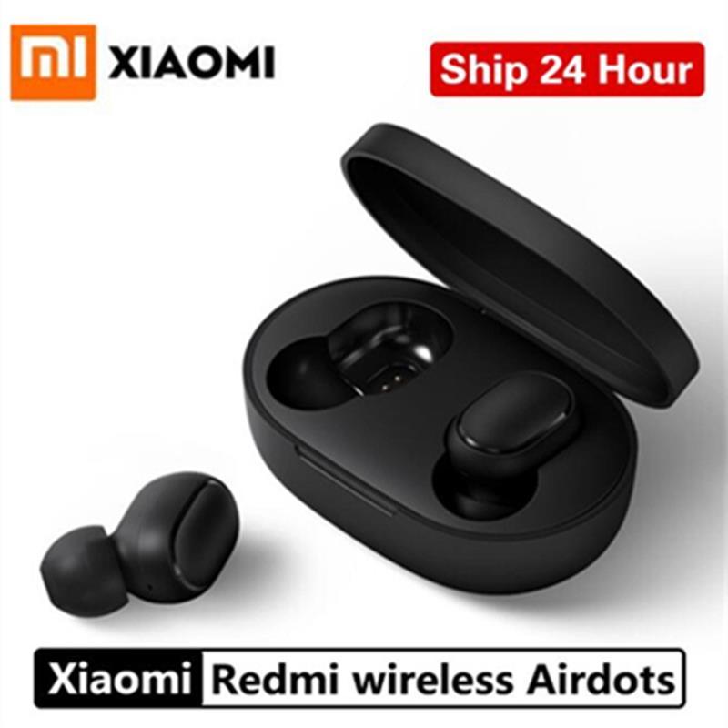 100% Original Xiaomi Redmi Airdots TWS 5.0 Fone de Ouvido Bluetooth Cancelamento de Ruído Ativo Com Mic Handsfree Sem Fio Controle AI