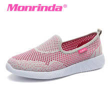 цена на Running Shoes Summer 2017 Women Sneakers Breathable Mesh Super Light Sport Shoes Female Jogging Shoe Zapatillas Deportivas Mujer
