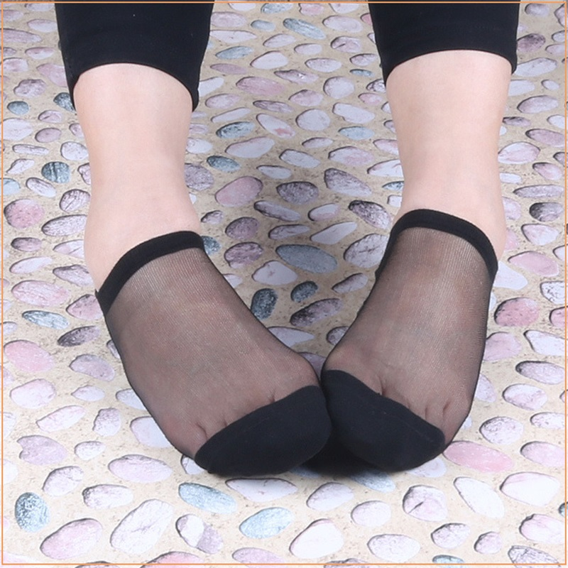 10 Pairs/Lot New Designer Silk Lace Socks for Women Summer Ultrathin Transparent Short S ...