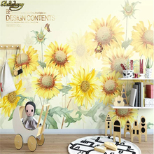 beibehang Custom 3D Photo Wallpaper for Living Room Suspended Ceiling Sunflower Wall Mural Wallpaper 3D home improvement murals free shipping custom modern 3d mural suspended ceiling top bedroom wallpaper sky backdrop