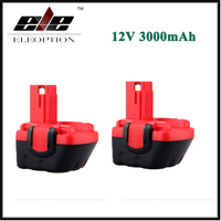 2x Eleoption 12V 3000mAh Ni MH Power Tool Battery For Bosch BAT043 BAT045 BAT046 BAT049 BAT120