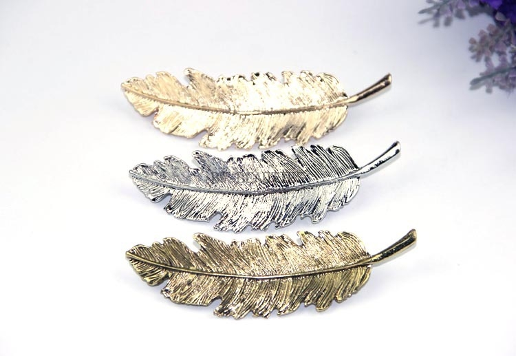 100Pcs/Lot Metal Leaf Hair Clip Girls Vintage Hairpin Princess Women Hair Accessories Barrettes accesorios para el pelo hairpins