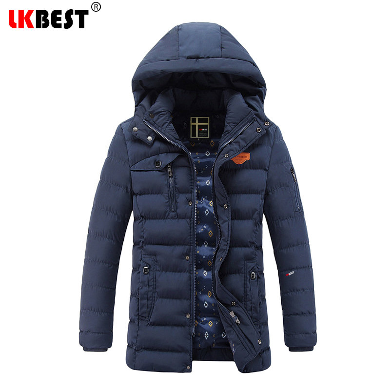 2017 New Thick Winter Coat Men Fashion Warm Winter Jacket Men Hooded Cotton Men's Parka European Size Casual Overcoat (PW629) new 2017 plus size warm thick cotton hooded jacket men winter air force one military overcoat men s coat male gray and blue