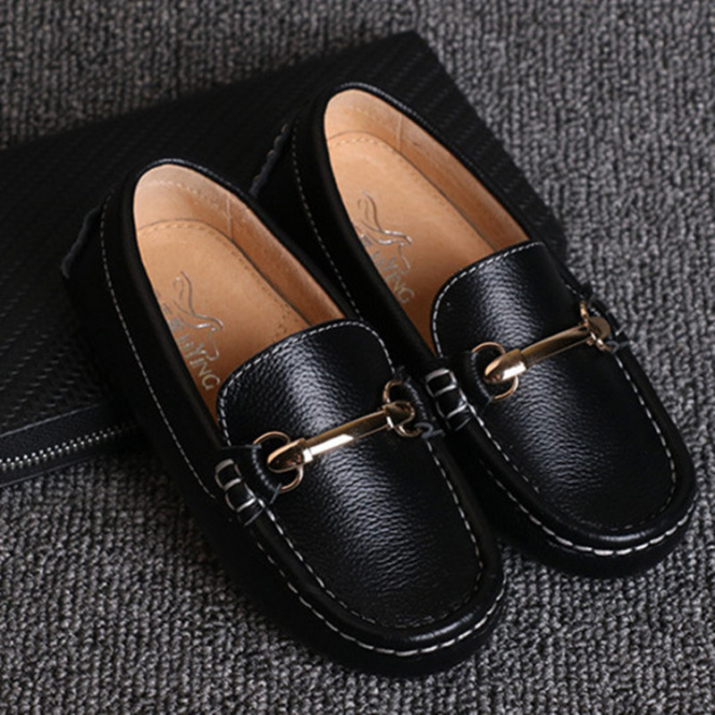 2018 Spring Autumn Children Shoes Kids Boys Casual Sneaker Genuine Leather Wedding Toddler Boy Loafers