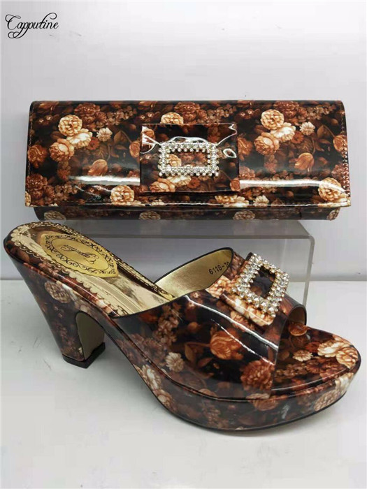 Impresión 5 Bomba Dama Zapatos Africana Para Alto Tacón Bolsa Bonita Y Bolso 8 Del Tacón Gy18 Cm 2 Altura 6 4 3 Flor 1 fqAgwAF5