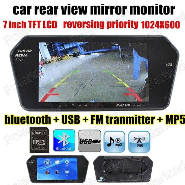 Φ_ΦNueva 7 pulgadas TFT LCD coche espejo mp5b reproductor