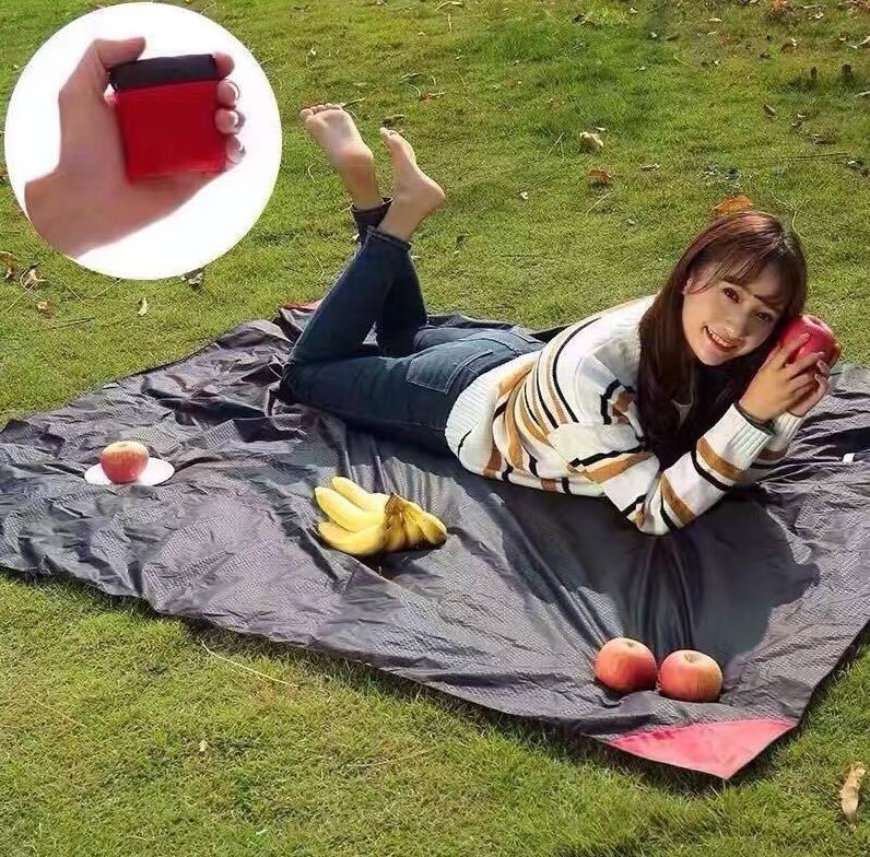 MINI 휴대용 포켓 담요 야외 피크닉 캠핑 비치 얇은 매트 핫