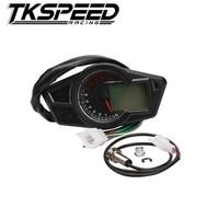 Motorcycle LCD Speedometer Motorcycle Digital Odometer Speedometer Tachometer Fit For 2 4 Cylinders