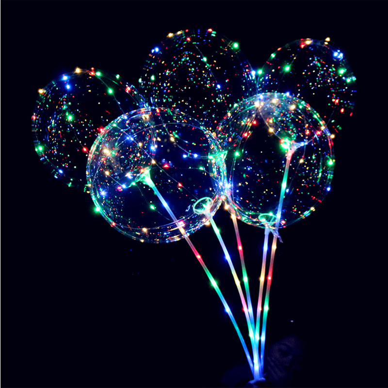 LED Air Balloon String Lights Flasher Belysning Bølge Ball 18inch - Ferie belysning - Foto 1