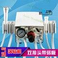 Laboratorio Dental Portátil dos Turbina Unidad de Compresor De Aire de 3 vías de paja