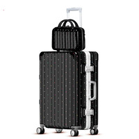 20'' 24'' 28'' Fashion Colorful Polka dot Black Wave Point Zipper or Aluminium Frame Trolley Suitcase luggage set koffer bag