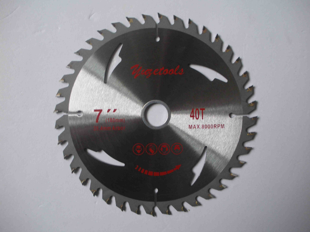 40 teeth circular saw blade, 7  40T,  180mm  wood cutting round disc,  hard alloy steel circular saw зимняя шина bridgestone blizzak revo gz 205 60 r16 92s