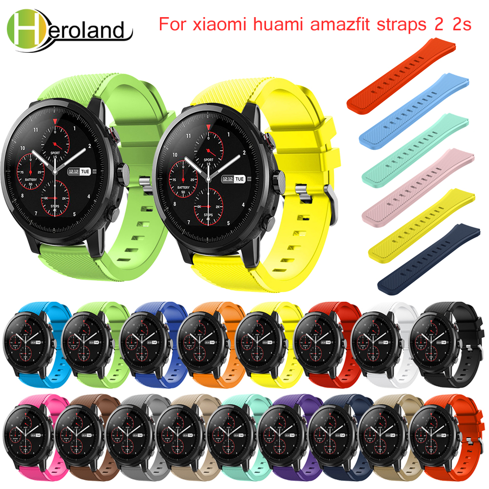 Band For Amazfit Stratos 2S Watchbands 22mm Silicone Watch band For Samsung Gear S3 Frontier/Classic strap for Amazfit Stratos 2 22mm silicone sport watch band for samsung gear s3 smart watch strap for xiaomi huami amazfit stratos 2 2s replacement watchband