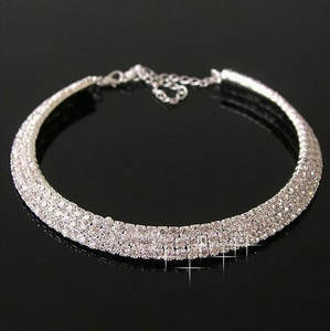 Fashion jewelry rhin...