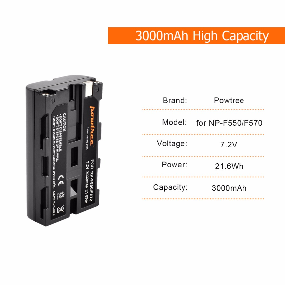4Packs 3000mAh NP F750 RechargeableDigital Battery 1Port Battery chager with LED for Sony NP F550 NP F770 NP F750 F960 F970 L10 in Digital Batteries from Consumer Electronics