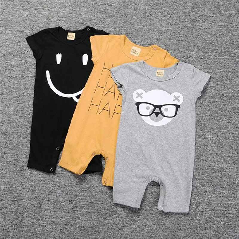 Новорожденный инфантил, Летний комбинезон для мальчиков, повседневный Детский комбинезон для маленьких мальчиков, одежда, милые комбинезоны с героями мультфильмов, От 0 до 3 лет для мальчиков и девочек