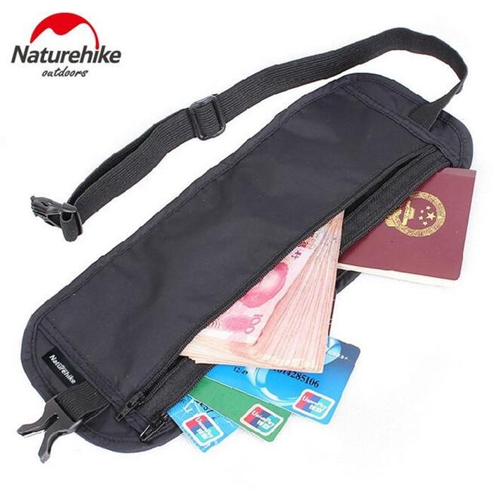 Naturehike Men Women Waist Pack Anti-Theft Safe Breathable Fanny Bag Cash Passport Document Card Sports Running