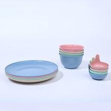 3pcs/set Kitchen tableware Bowls, plates, dishes  стоимость