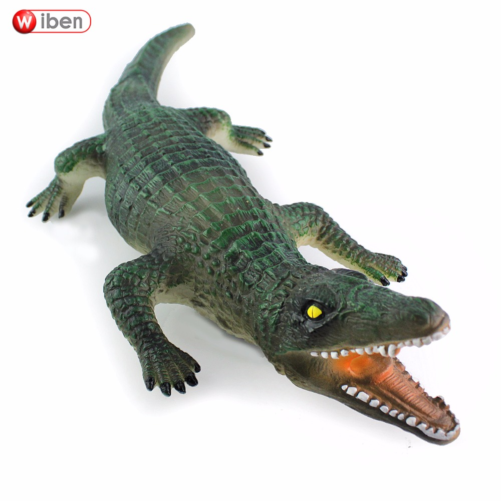 Wiben Hot Toys Big Crocodile Simulation Animal Model Action & Toy Figures Toys For Children Gift Brinquedos lps pet shop toys rare black little cat blue eyes animal models patrulla canina action figures kids toys gift cat free shipping