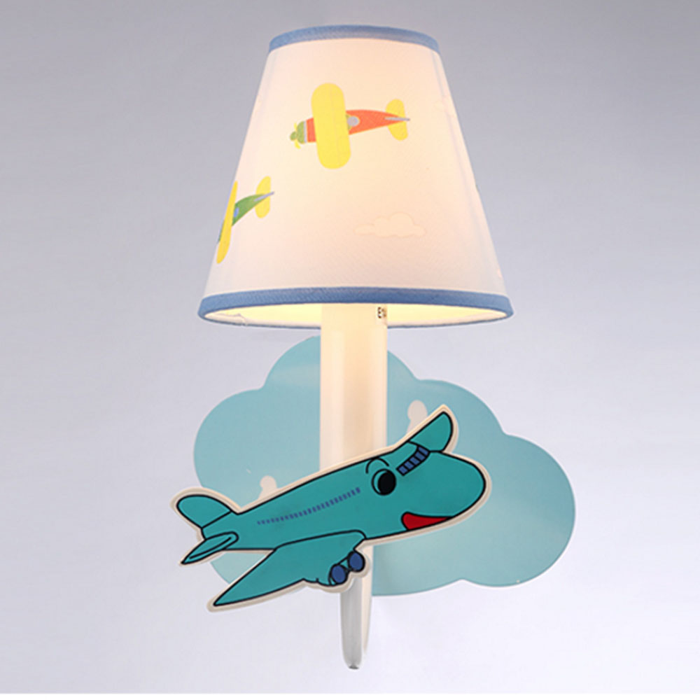 Cartoon Plane Led Wall Lamp Boy Girl House House Loft Bedroom Lighting Decoration Bedside Lamp Reading