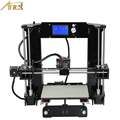 3mm Black Aluminum Hotbed Easy assemble Anet A6 Reprap Prusa i3 3D Printer Kit DIY With Free 10m Filament 16GB SD Card Tool