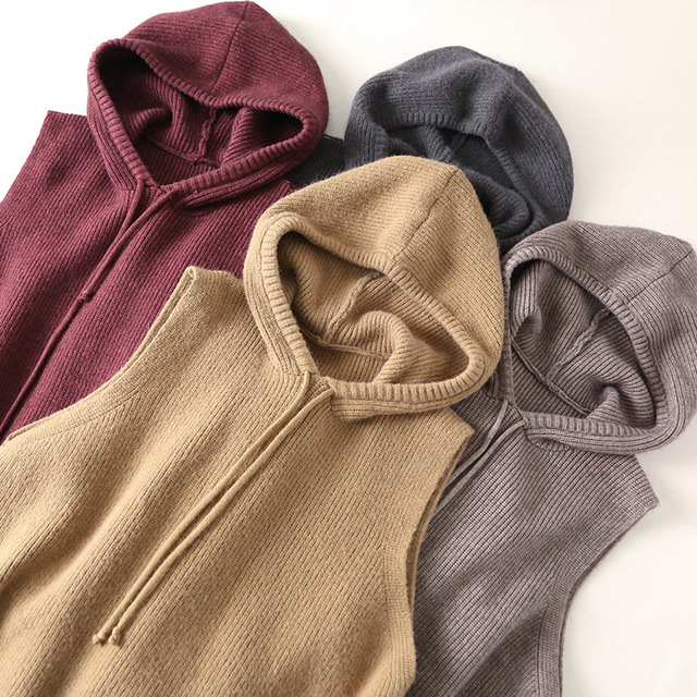 3f031b15622 Solid Hooded Sweater For Girls School Casual Female Gilet Hole Tassel  Sleeveless Spring Coat Loose Plus