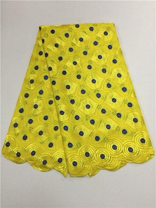 New Arrival 100 Cotton Cord French Guipure Lace Fabric African Swiss Voile Lace High Quality yellow