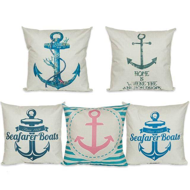 European Style Hipster Anchor Super Decorative Sofa Throw Cushion Adorable Hipster Decorative Pillows