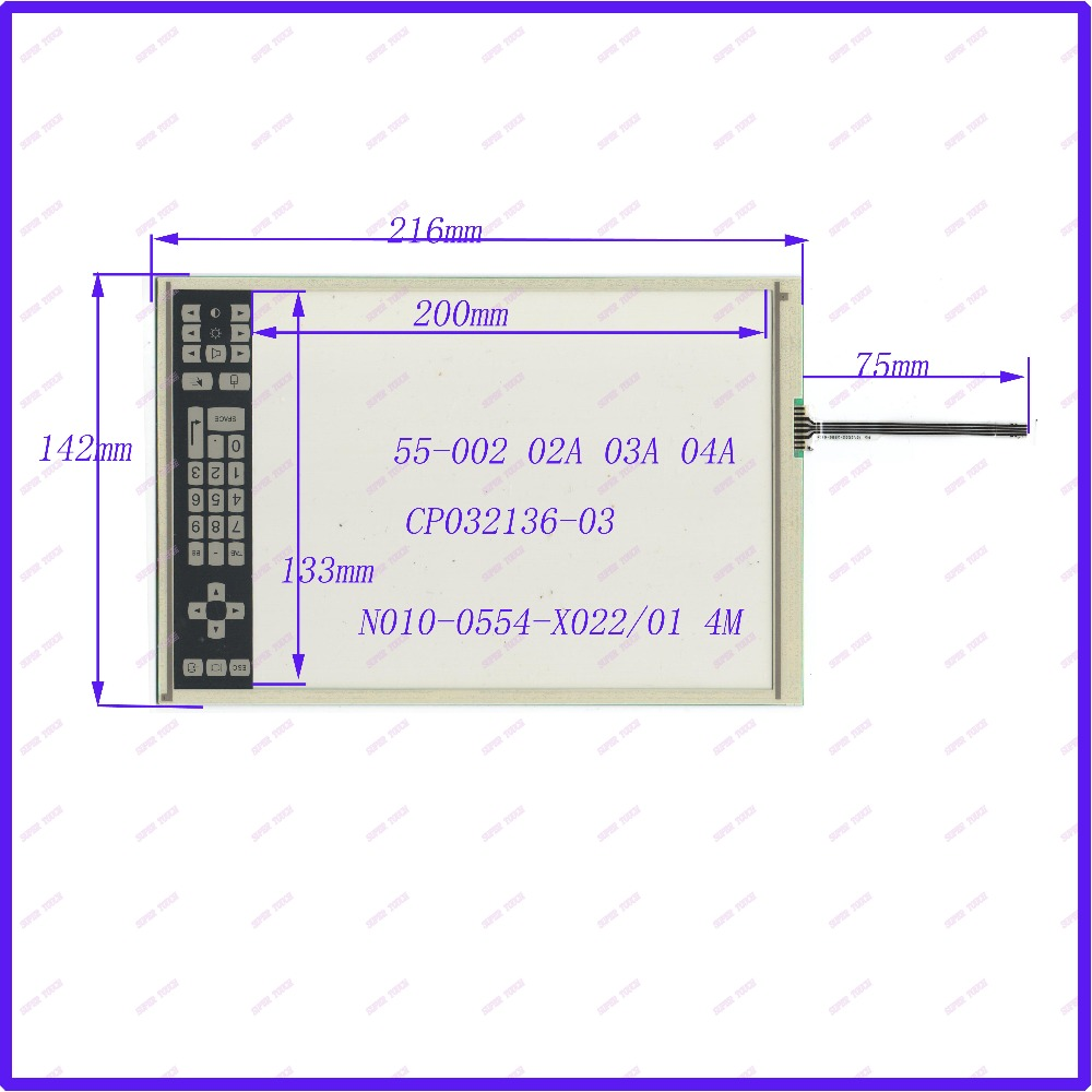 ZhiYuSun POST 9.4 inch four wire resistive Touch Screen  216*142 for  industry applications N010-0554-X022/01   CP032136-03 7 four inch wire resistive touch screen embedded navigation kdt 4357 166 100