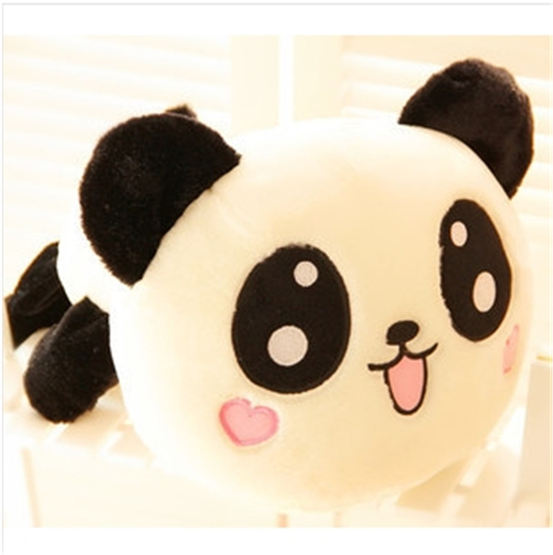 1pcs 25cm super cute Panda doll smile Papa Bear plush toy baby bear birthday gift girl and boys children toys