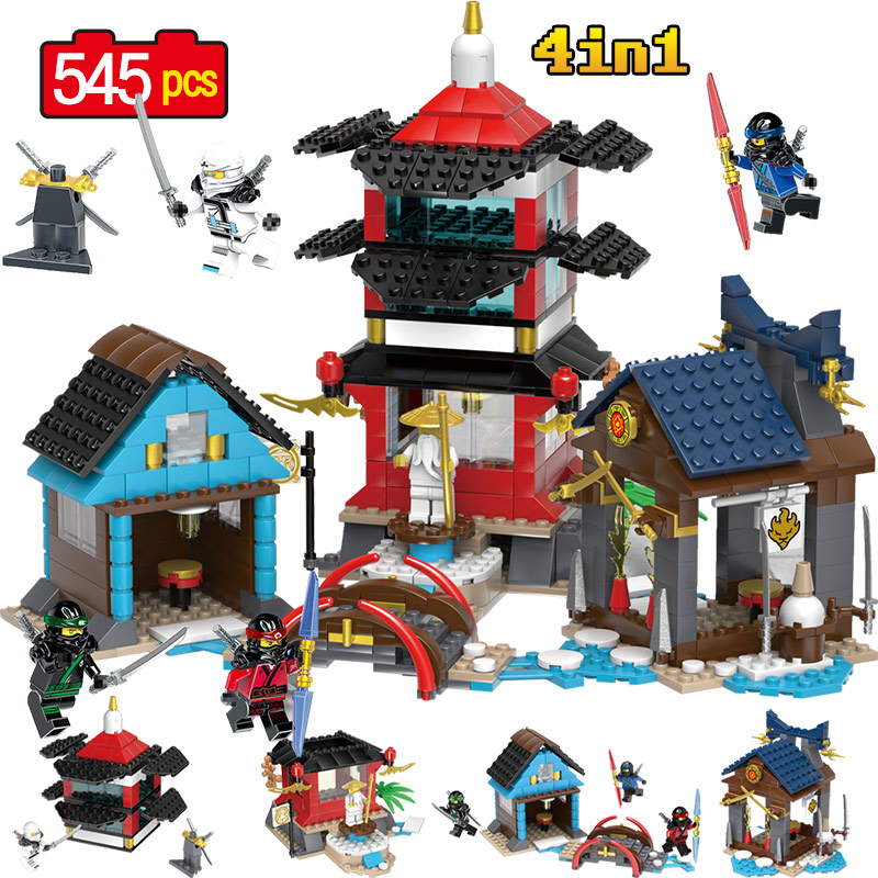 Ninjagoed Movie Temple Scene Action Figures Building Blocks Compatible Legoingly NinjagoINGly Building Blocks Toys for Children 588pcs bricks diy ninjagoed movie building blocks compatible legoingly shark ninjagoed mini action figures blocks children toys
