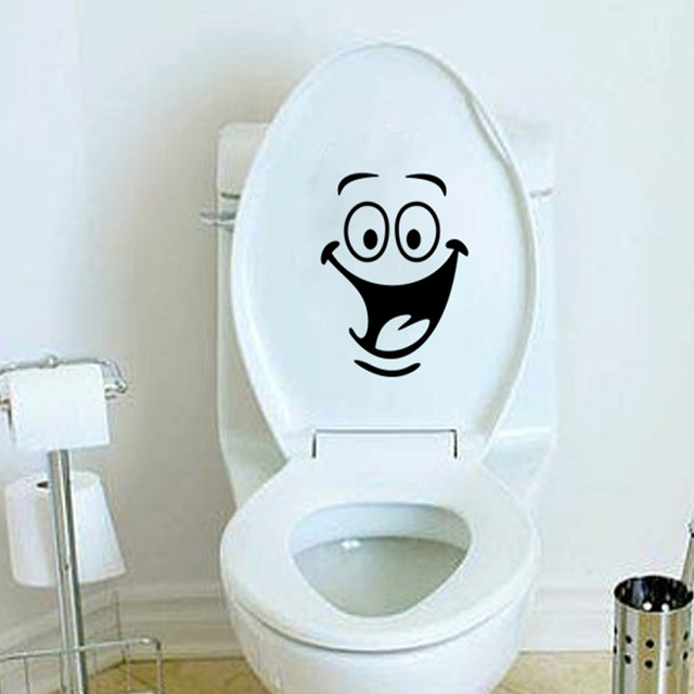 Kids Room Wall Sticker Toilet Bathroom Waterproof Decorative Vinyl Stickers Seat Decal Mual
