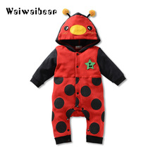 Autumn Winter Baby Rompers Cotton Clothes Newborn Cartoon Animal Hooded Jumpsuits Toddler Thick Warm  Rompers for Boys and Girls newborn winter baby rompers girls windproof rompers children warm outdoor rompers kids jumpsuits
