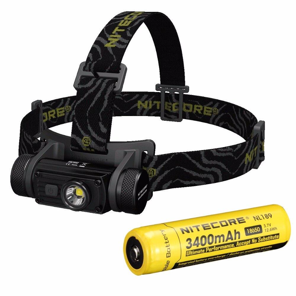 Nitecore HC60/HC60w cree XM-L2 U2 1000 lúmenes linterna LED impermeable linterna antorcha para camping