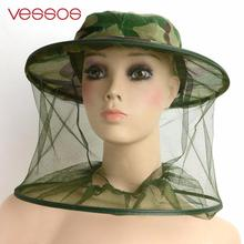 Vessos Mosquito Cap Midge Fly Bug Insect Bee Hat With Net Mesh Head Face Protector Fishing Hat For Outdoor Camping Hiking