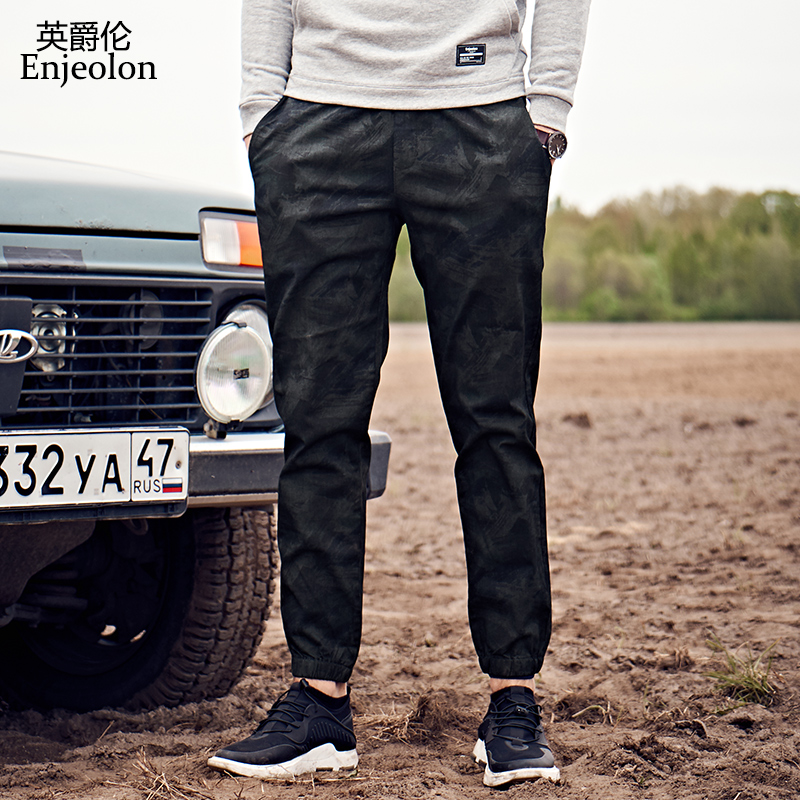 Enjeolon brand sweatpants men long trousers pants quality cargo pants male army green fashion Causal clothes plus size 3XL K6250