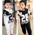 baby boy fashion Romper trend explosion paragraph baby tide models long-sleeved jumpsuit climbing clothes cute letters