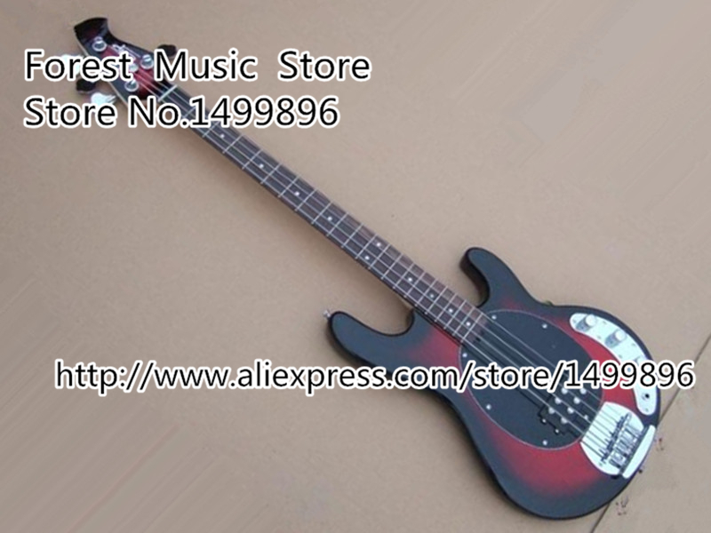 Burgundy Classical Hollow Body Es Electric Bass Guitar Chinese 4